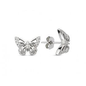 Сребърни обици Пеперуди
