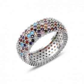 Сребърен цветен пръстен