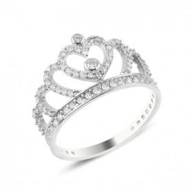 Сребърен пръстен Тиара